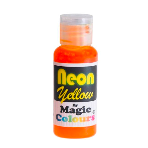 colorante gel neón amarillo magic colors