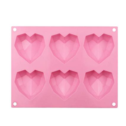 molde silicona chocolate corazones diamantes