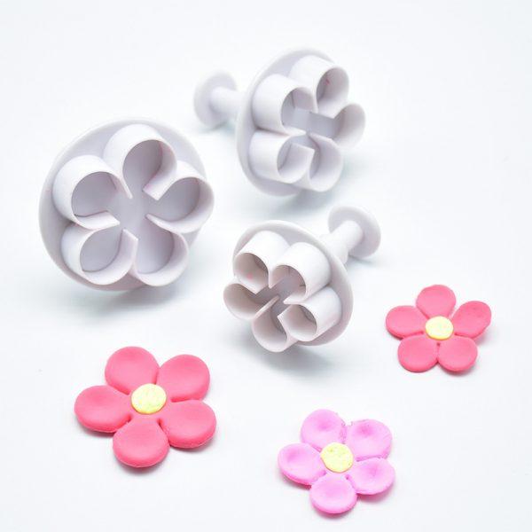 set 3 cortadores expulsor flores redondas
