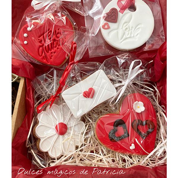 Dulces Mágicos de Patricia caja san valentín galletas para ti