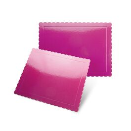 base fina rectangular bordes ondulados fucsia