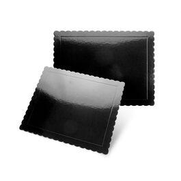 base fina rectangular bordes ondulados negro