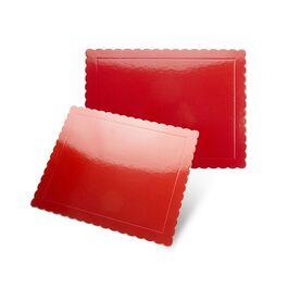 base fina rectangular bordes ondulados rojo