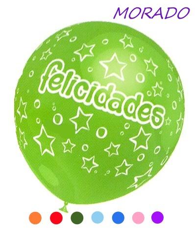 globo felicidades MORADO
