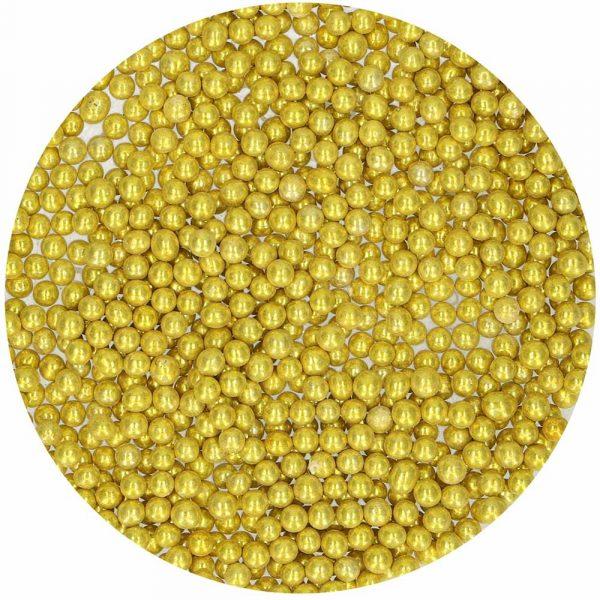 Perlas doradas metalizadas dulces magicos