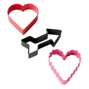 set 3 cortadores corazones san Valentín