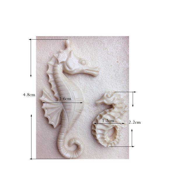 molde silicona caballito de mar