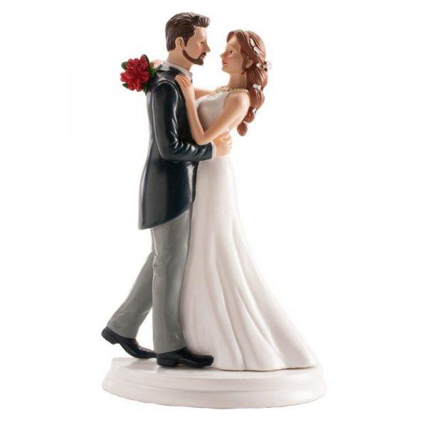 figura decorativa tarta boda pareja bailando vals