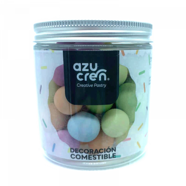 bolas multicolor de azucar chocolate cereales 150 gramos azucren